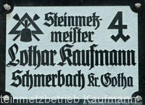 Steinmetzmeister-Lothar-Kaufmann-Firmenschild